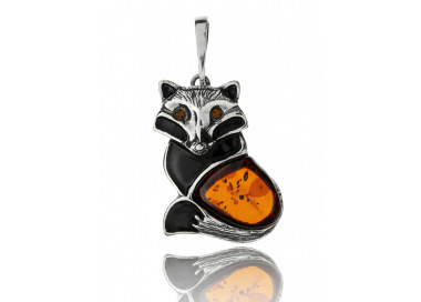 Home Pendant fox with amber - 1