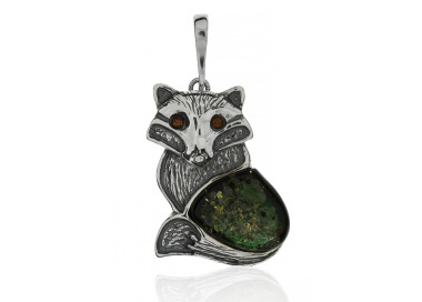 Home Pendant fox with amber - 4