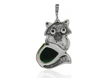 Home Pendant fox with amber - 6