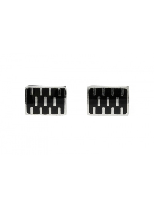 Home Silver cufflinks with onyx - 2
