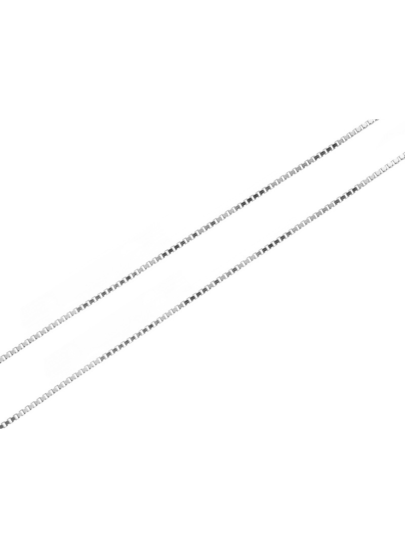 Home Silver chain weave ankle - 1
