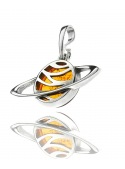 Home Pendant planet Saturn with amber - 2