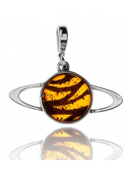 Home Pendant planet Saturn with amber - 3