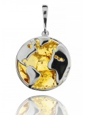 Home Globe pendant with amber - 1
