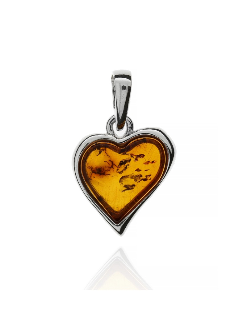 Home Heart pendant with amber - 4