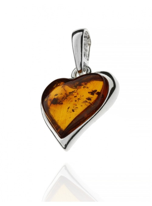 Home Heart pendant with amber - 5