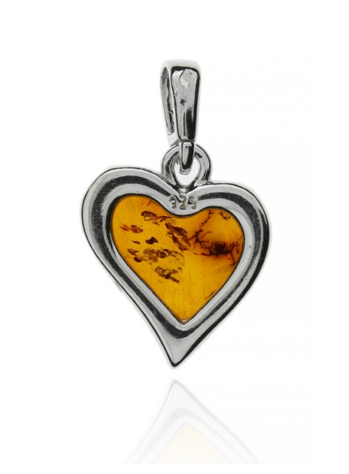 Home Heart pendant with amber - 6
