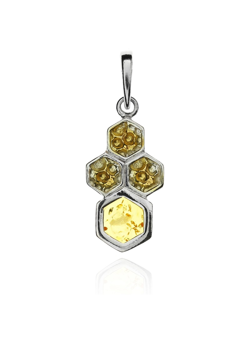 Home Honeycomb pendant with amber - 1