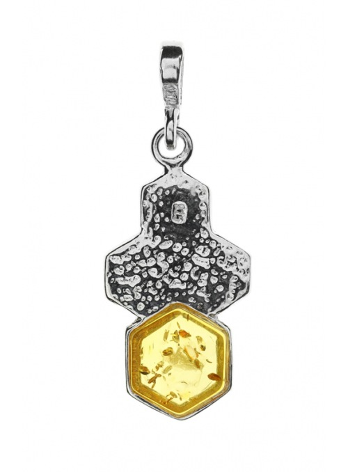 Home Honeycomb pendant with amber - 3