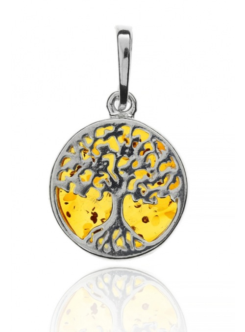 Home Pendant tree of happiness with amber - 1