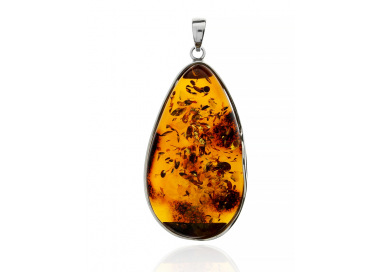 Unique items Pendant with amber - 1