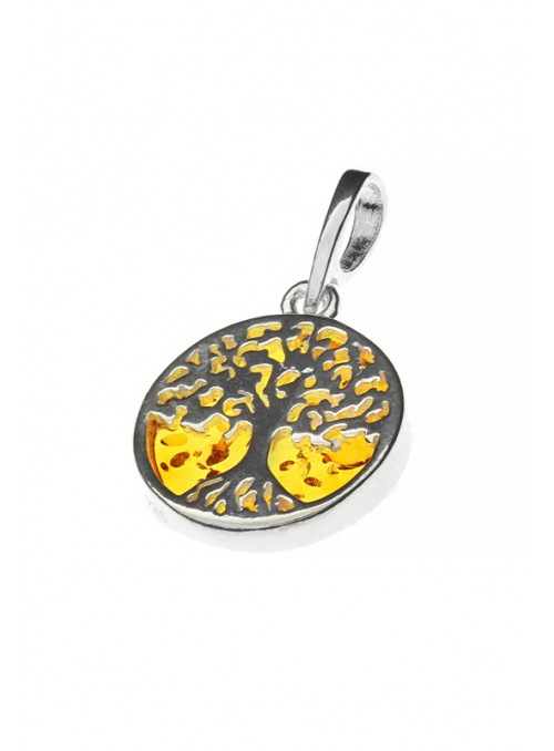 Home Pendant tree of happiness with amber - 2