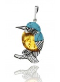 Home Pendant kingfisher with turquoise and amber - 2