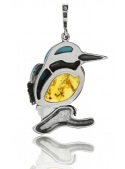 Home Pendant kingfisher with turquoise and amber - 3