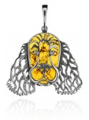 Home Pendant dog with amber - 1