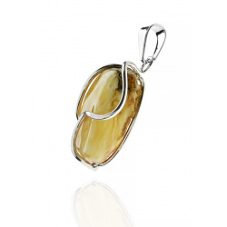 Unique items Pendant with white amber - 2
