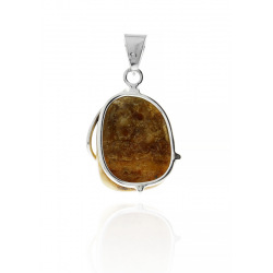Unique items Pendant with white amber - 3