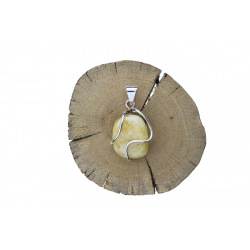 Unique items Pendant with white amber - 4