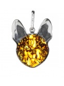 Home Pendant silver bulldog with amber - 3