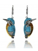 Home Silver kingfisher earrings with turquoise - 1