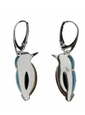 Home Silver kingfisher earrings with turquoise - 2