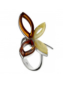 Home Butterfly ring with amber - 1