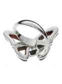 Home Butterfly ring with amber - 4