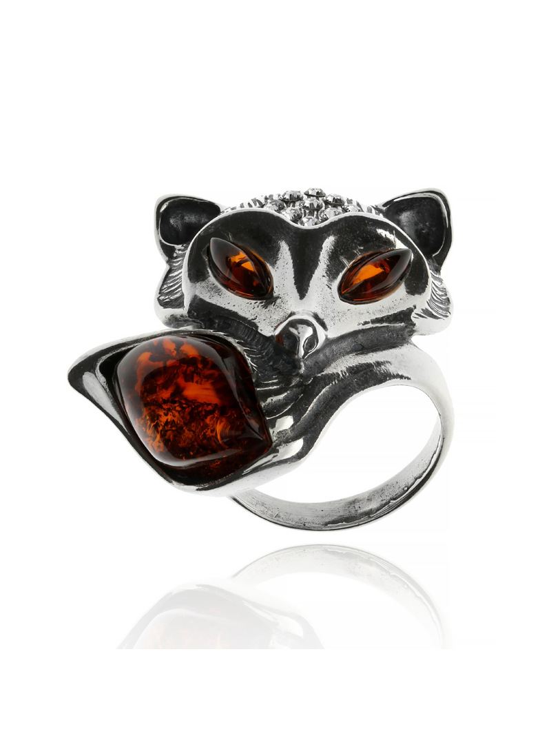 Home Ring fox with amber - 1