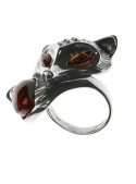 Home Ring fox with amber - 2