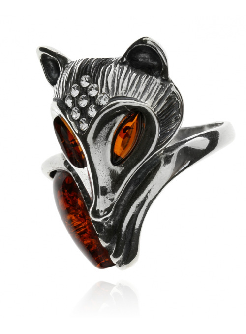 Home Ring fox with amber - 3