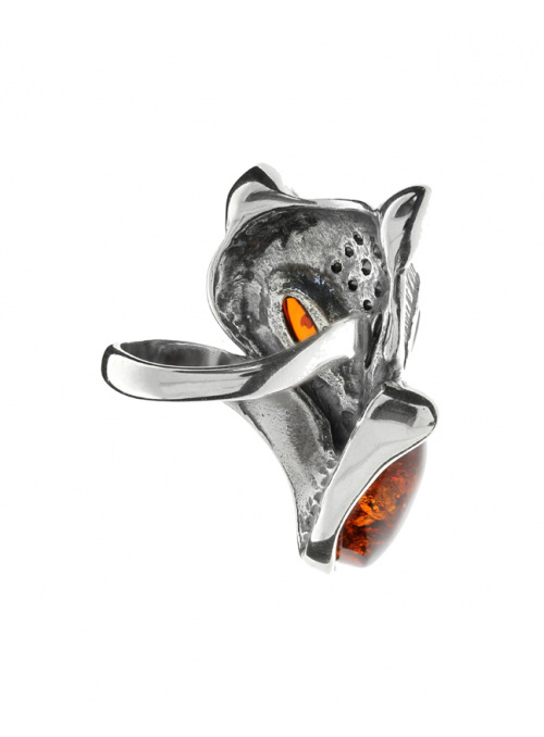 Home Ring fox with amber - 4