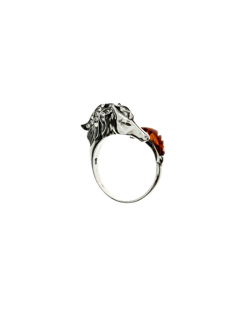 Home Ring horse with amber - 1