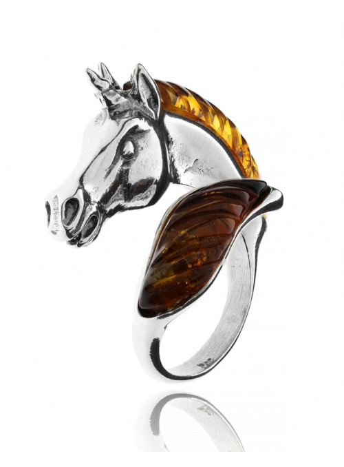Home Ring horse with amber - 2