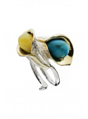 Home Ring with amber and turquoise - 2