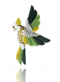Brooches Parrot brooch with coral - 1