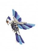 Brooches Parrot brooch with turquoise - 2