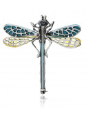 Brooches Dragonfly brooch with turquoise and amber - 4