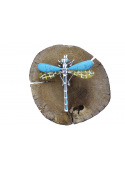 Brooches Dragonfly brooch with turquoise and amber - 5