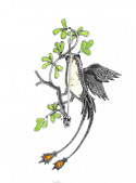 Brooches Bird brooch with amber - 3