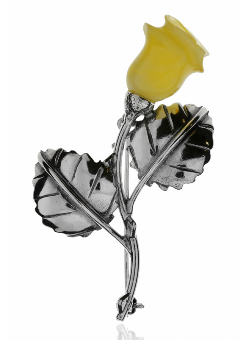 Brooches Brooch with a rose - 1