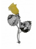 Brooches Brooch with a rose - 3