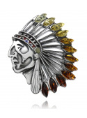 Indian Amber Brooches - 2