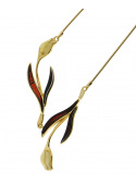 Home Amber tulip necklace - 1