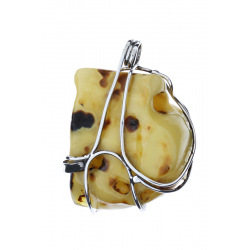 Unique items Pendant with amber - 3