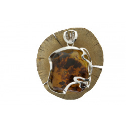 Unique items Pendant with amber - 4