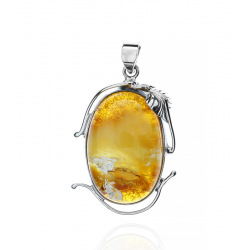 Unique items Pendant with Baltic amber - 1