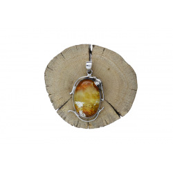 Unique items Pendant with Baltic amber - 4